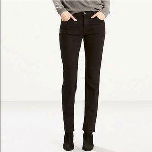 Theory Black Straight Leg Jeans